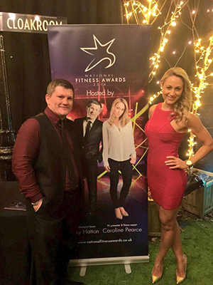 Caroline Pearce and Ricky Hatton, 2015 National Fitness Awards