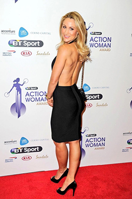 Caroline Pearce at the BT Action Woman Awards
