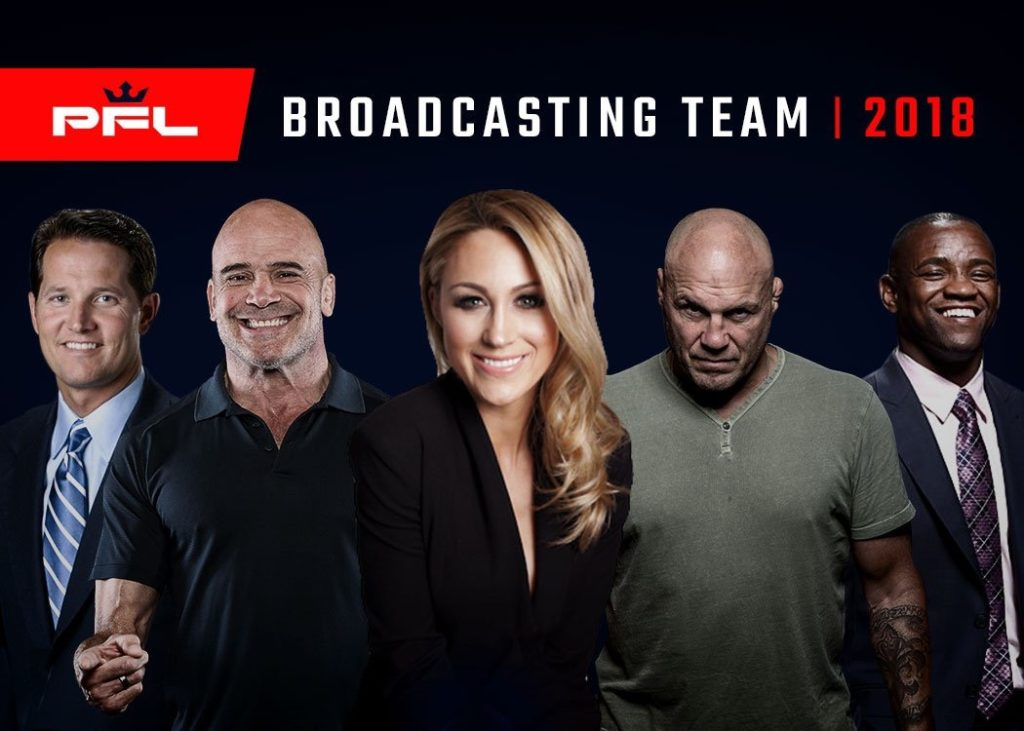 PFL Premier Fight League Broadcasting Team Randy Cotoure