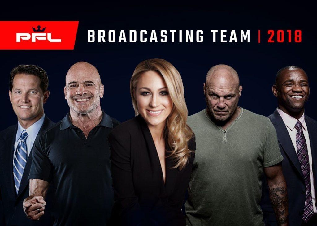 PFL Premier Fight League Broadcasting Team Randy Cotoure